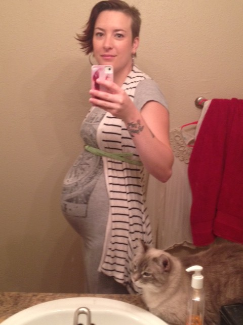 27 weeks and Tula and my face wash.